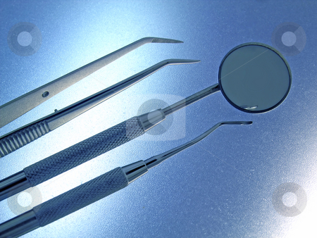 Dental Instruments stock photo, Close-up Dental Instruments by Adam Radosavljevic