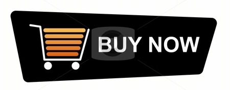 Buy Now Black stock photo, Buy now button with a shopping cart on white background. by Henrik Lehnerer