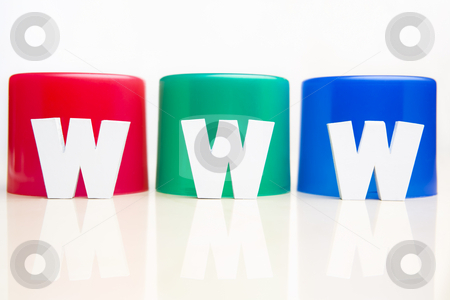 WWW in front of RGB tube stock photo, WWW alphabet block placed in front of RGB tube by Rudyanto Wijaya