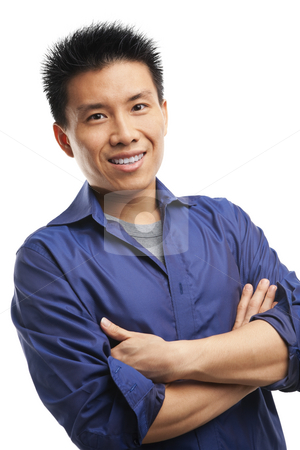 Confidence Asian young man stock photo, Portrait of confidence Asian young man by Rudyanto Wijaya