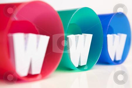 WWW inside RGB tube stock photo, WWW inside RGB tube close up shot from side by Rudyanto Wijaya
