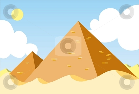 The Pyramid of Egypt stock photo, Image of two pyramids stand still in the dessert during the day. by Verapol Chaiyapin