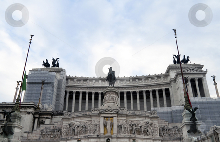 Museum Vittoriano stock photo, The National Monument of Victor Emmanuel II, a Roman Museum by Kevin Tietz
