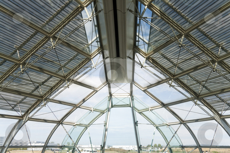 Airport Interior stock photo, View of the front of Charles de Gaulle airport in Paris, France by Kevin Tietz