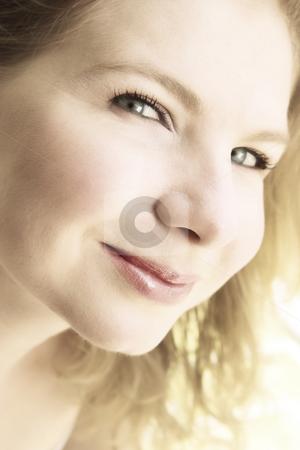 Portrait of a beautiful blonde woman. stock photo, Portrait of a beautiful blonde blu-eyed woman, smiling. by Elena Weber (nee Talberg)