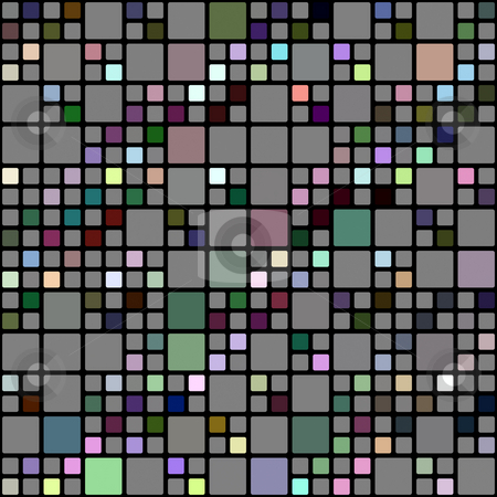 Colored blocks pattern stock photo, Seamless texture of cubes in grey and some bright colors by Wino Evertz