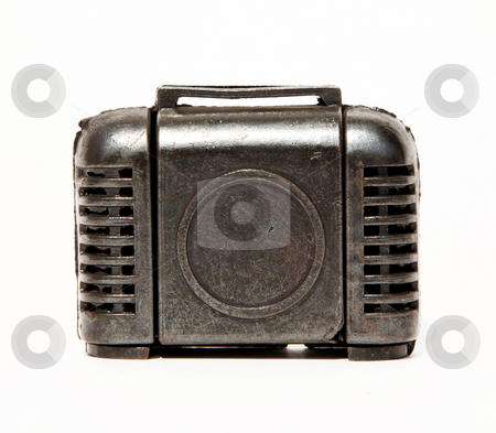 Suitcase stock photo, Old suitcase over white background. Isolated object by Giuseppe Ramos