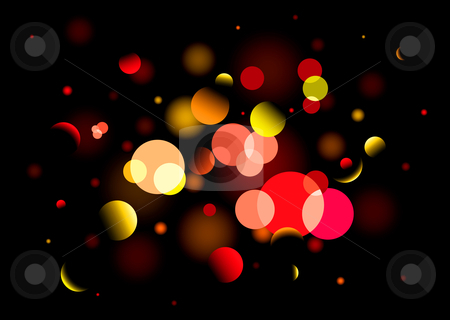 Blur bright light stock vector clipart, Black background with bright blured light ideal christmas wallpaper by Michael Travers
