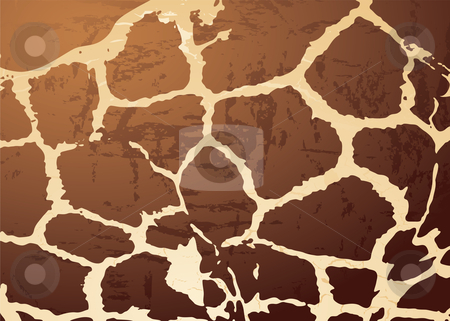 Giraffe pattern skin stock vector clipart, Abstract animal skin background in the style of a giraffe by Michael Travers