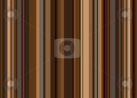 Coffee stripe retro stock vector clipart, Retro style vertical stripped background in shades of brown by Michael Travers