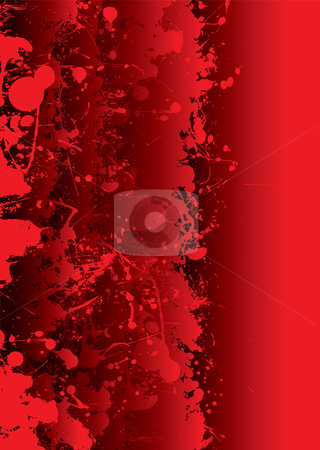 Blood splat vivid stock vector clipart, Blood red background with overlapping elements and splat by Michael Travers