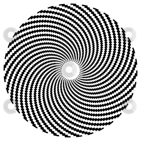 Optical art series: Sphere stock vector clipart, Optical art sphere in black and white by Cienpies Design