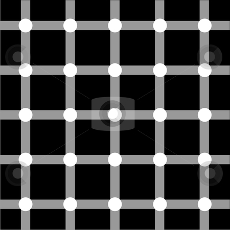 Optical art series: Grid stock vector clipart, Optical art grid in black and grey with white dots by Cienpies Design
