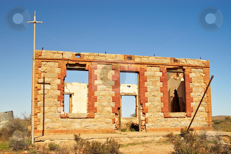 Silverton ruins stock photo, An old ruined building typical of historic silverton, nsw by Phil Morley