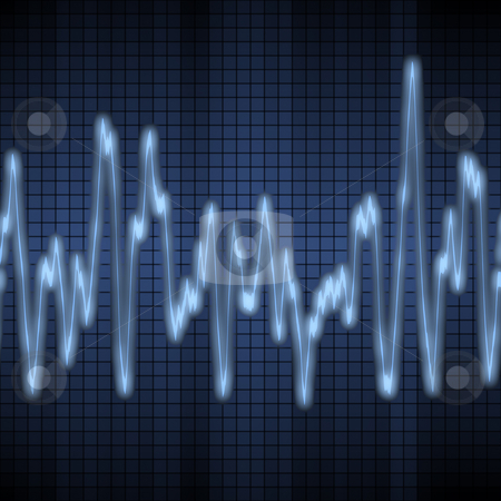 Audio or sound wave stock photo, Great image of a blue audio or sound wave by Phil Morley