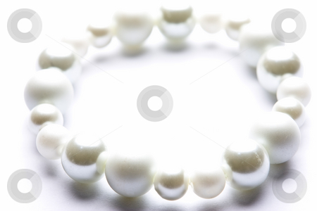 Costume Juwelery stock photo, Pearl designer costume jewelery in macro on white background by Adriaan Van den Berg