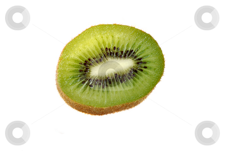 Slice of kiwi.  stock photo, Slice of  kiwi isolated over white. by Liana Bukhtyyarova