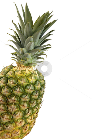 Pineapple isolated over white.  stock photo, Pineapple isolated over white with space for text. by Liana Bukhtyyarova