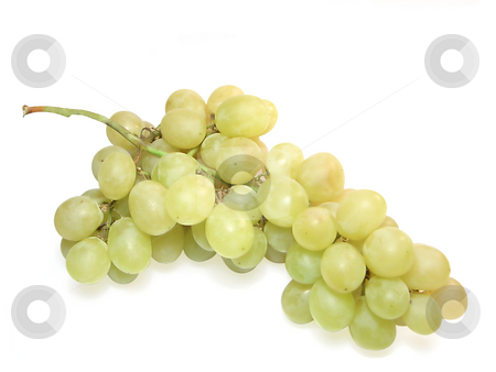 Bunch of grapes. stock photo, Bunch of grapes isolated on white with clipping path. by Liana Bukhtyyarova