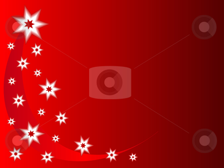 A christmas background with red and white stars  stock vector clipart, A christmas background with red and white stars and room for text by Mike Price
