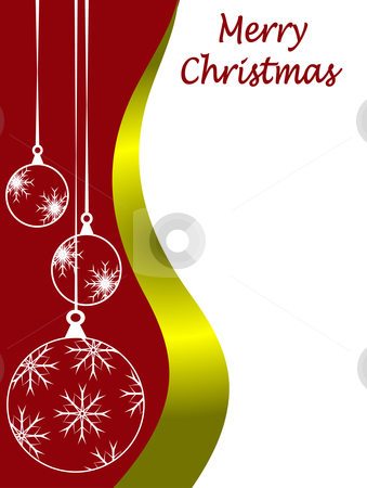 An abstract Christmas card vector illustration with clear white outline baubles  stock vector clipart, An abstract Christmas card vector illustration with clear white outline baubles on a darker backdrop with room for text on white space by Mike Price