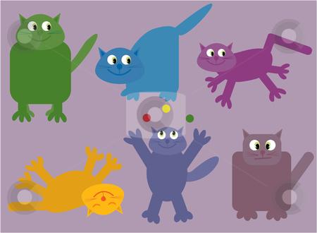 Collection of cats stock vector clipart, Vector illustration of a collection of humorous cats by Rachel Gordon