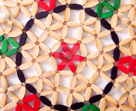 Flower texture stock photo, Abstract flower texture, red and green colors by Giuseppe Ramos