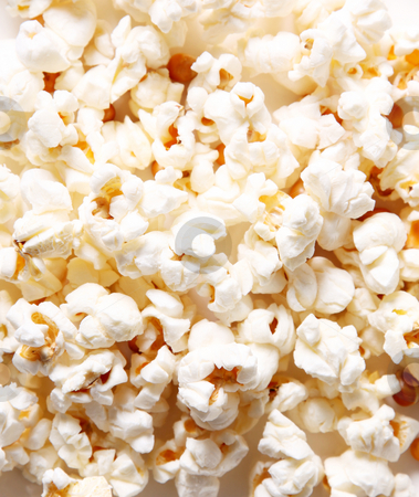Popcorn stock photo, White pop corn texture, food image by Giuseppe Ramos