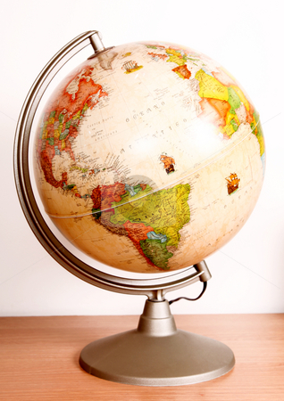 Earth stock photo, Earth Globe over white background. Sphere object by Giuseppe Ramos