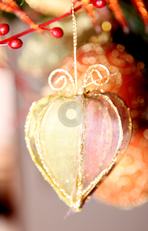 Christmas ornament stock photo, A small ornament hanging from Christmas tree by Giuseppe Ramos