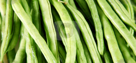 Green bean stock photo, Texture of green bean. Vegetables raw food by Giuseppe Ramos