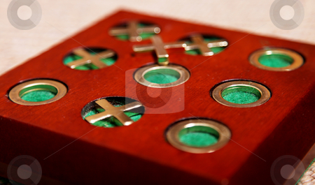 Game stock photo, Wooden tic tac toe game. Toy image by Giuseppe Ramos