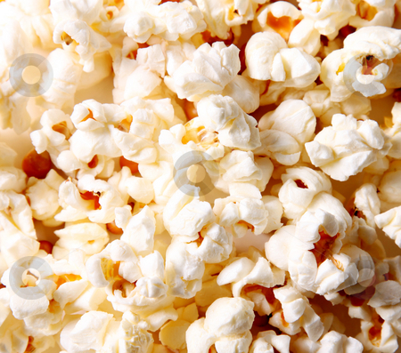 Popcorn stock photo, White popcorn texture. Food image. Eat background by Giuseppe Ramos