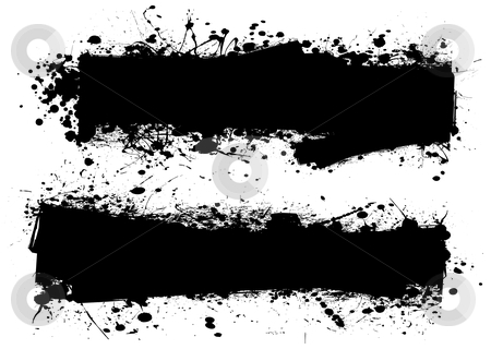 Duce splat stock vector clipart, Two ink splats with room to add text or leave blank by Michael Travers