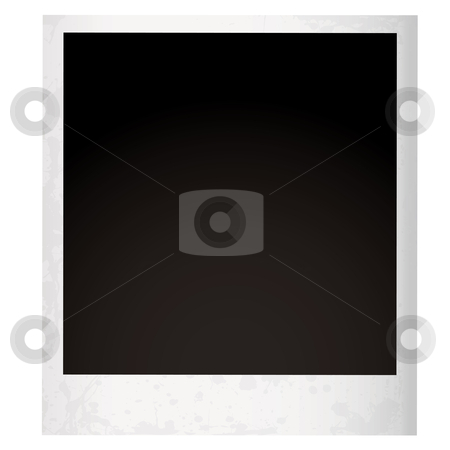 Single instant grunge stock vector clipart, Instant photograph with grunge aged effect with room to add your own image by Michael Travers
