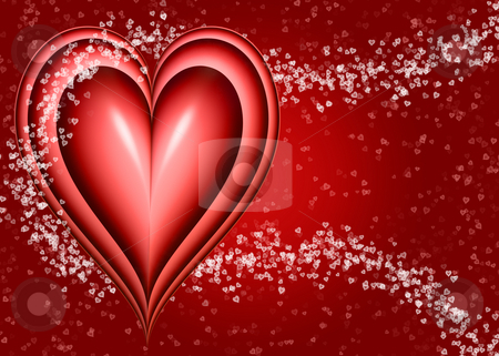 Valentines heart stock photo, Valentine love heart design with smaller hearts by Phil Morley