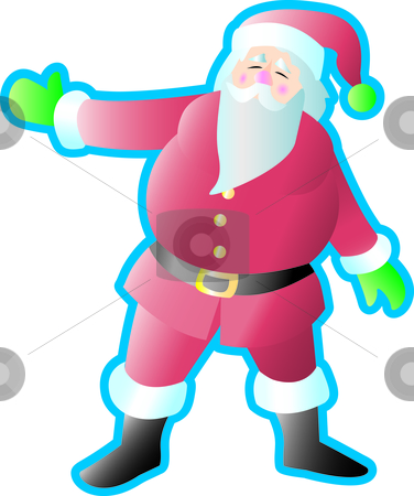 Santa Presenting stock vector clipart, Santa Claus with arm out presenting something. by Jamie Slavy