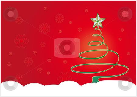 Christmas winter background stock vector clipart, Christmas winter background, in vector format by Germán Ariel Berra