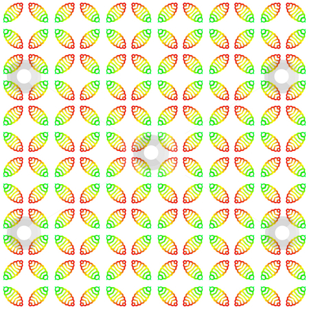 Festive leaves pattern stock photo, Seamless texture of structured leaves in fresh colors by Wino Evertz