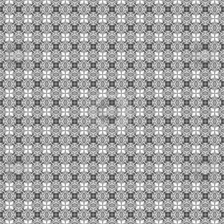 Classic grey victorian pattern stock photo, Seamless texture of fine grey lines in to flowers on white by Wino Evertz