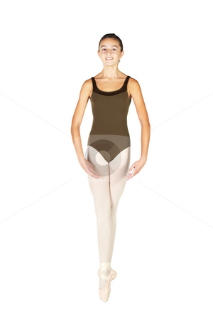 Young Ballet Dancer stock photo, Young female ballet dancer showing various classic positions on a white background - Soubresant. NOT ISOLATED by Sean Nel