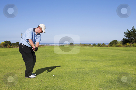 Golf #23 stock photo, Man playing golf. by Sean Nel
