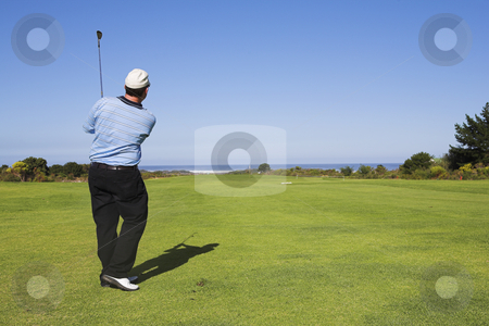 Golf #19 stock photo, Man playing golf by Sean Nel