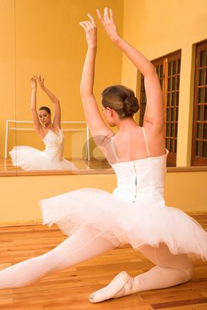 Ballerina #29 stock photo, Ballerina dancing in front of a mirror by Sean Nel