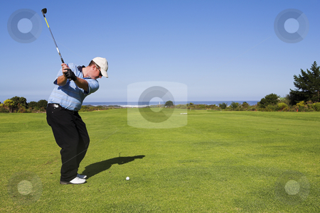Golf #22 stock photo, Man playing golf. by Sean Nel