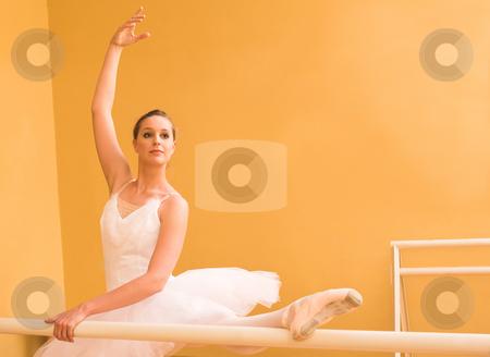 Ballerina #33 stock photo, Ballerina dancing at bar by Sean Nel