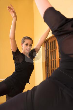 Ballerina #58 stock photo, Ballerina dancing in front of mirror by Sean Nel