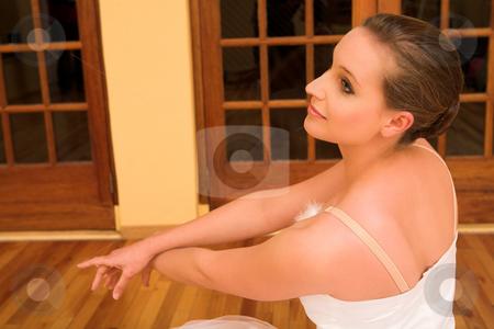 Ballerina #17 stock photo, Ballerina in studio, classic ballet pose by Sean Nel