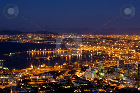 Cape Town view #1 stock photo, Veiw at night of Cape Town, South Africa by Sean Nel