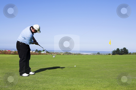 Golf #12 stock photo, Man playing golf. by Sean Nel